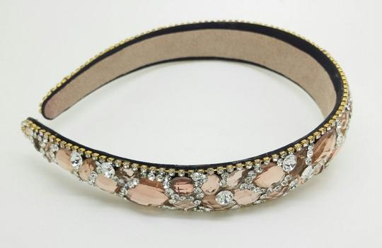 Elle Cross Elle Cross Morganite Color Crystal Headband Swarovski Elements