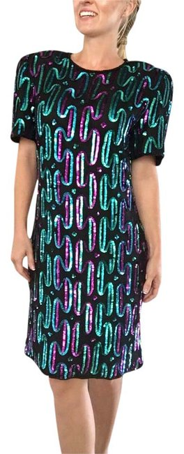 Eues Allure Sequin Party Sequin Blue Sequin Sequin Dress
