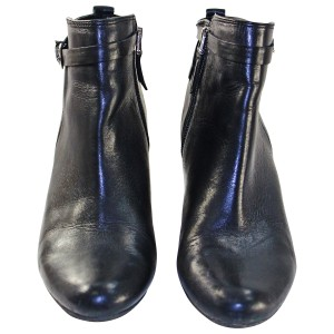 Sam Edelman Leather Pre-owned Ankle Black Boots