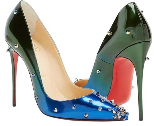Preload https://item2.tradesy.com/images/christian-louboutin-ombre-blue-green-degraspike-120-patent-studded-spike-ocean-amazon-pumps-size-us--20821291-0-1.jpg?width=440&height=440