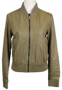 Bottega Veneta Women's Braid Beige Leather Jacket
