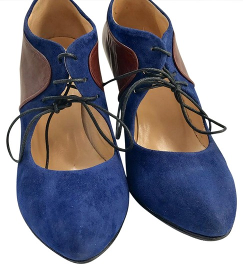 Preload https://item5.tradesy.com/images/blue-suede-lace-up-booties-mulesslides-size-us-7-regular-m-b-20821329-0-1.jpg?width=440&height=440