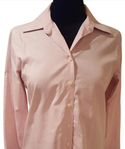 Eddie Bauer Wrinkle Resistant Easy Care Long Sleeve Button Down Shirt Lilac