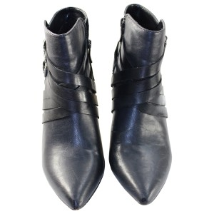 BCBGeneration Leather Ankle Pointed Toe Black Boots