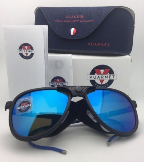 Vuarnet VUARNET Sunglasses VL 1315 0011 Black w/Leather Side Shields-Blue Mirr
