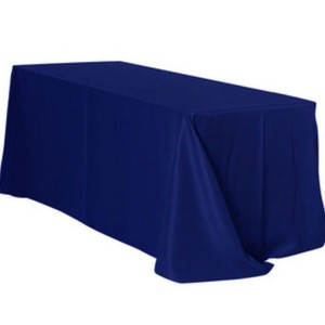 "7-90""x156"" Polyester Rectangular Tablecloth Navy Blue"