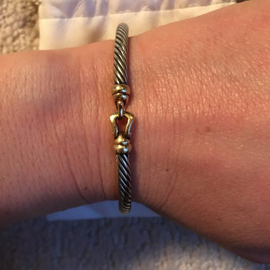 Cable Collectibles Buckle Bangle Bracelet with 18k gold 3 mm David Yurman B09543 S8