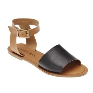 Matisse Leather Color Block Flat black/cognac Sandals