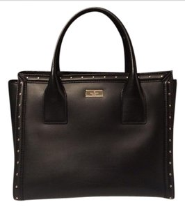 Kate Spade Studded Leather Tote in Black
