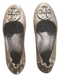 Tory Burch Gun Metal Flats