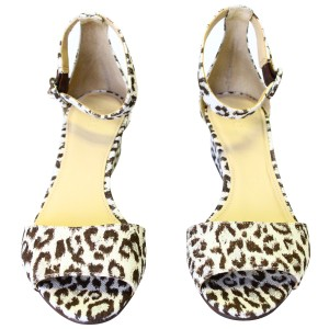 J.Crew Pre-owned Fabric Leather Leopard Print Wedges