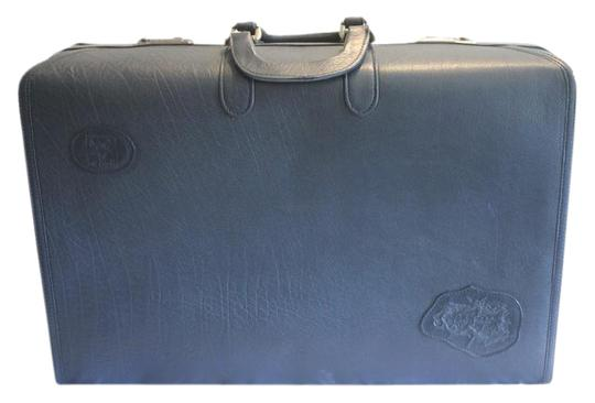Preload https://item1.tradesy.com/images/carlos-falchi-blue-vintage-suit-case-leather-luggage-20821580-0-2.jpg?width=440&height=440