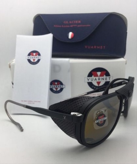 Vuarnet VUARNET Sunglasses VL 1315 0010 Black w/ Leather Side Shields-Skilynx