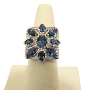 "Colleen Lopez Colleen Lopez 5.75ctw ""Bursting Bud"" London Blue Topaz Ring 9"