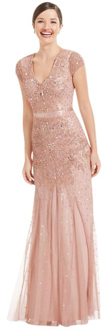 Preload https://item1.tradesy.com/images/adrianna-papell-blush-cap-sleeve-beaded-embellished-gown-long-formal-dress-size-6-s-20821645-0-1.jpg?width=400&height=650