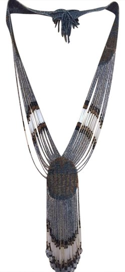 Preload https://img-static.tradesy.com/item/20821652/brown-grey-black-wearable-art-necklace-0-1-540-540.jpg