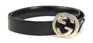 Gucci Mens Belt Size 42 Interlocking G Buckle Guccissima Leather Strap