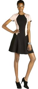 Rebecca Taylor short dress Black Rose Round Neck Short Sleeves Fully Lined Back Zip on Tradesy