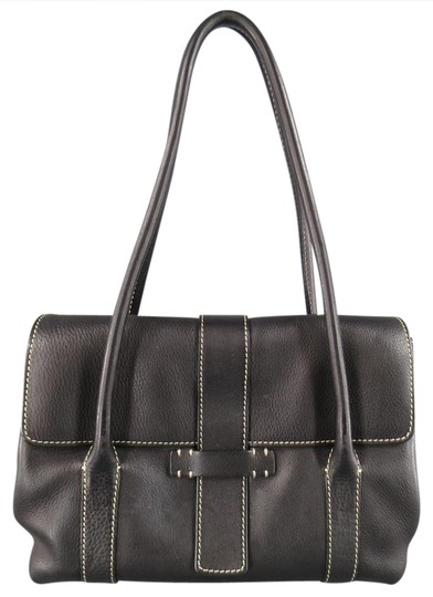 Preload https://item5.tradesy.com/images/loro-piana-contrast-stiching-dandy-black-leather-shoulder-bag-20821684-0-1.jpg?width=440&height=440