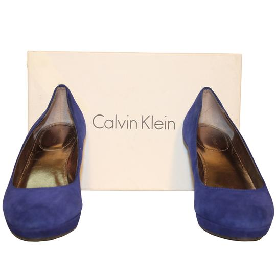 Calvin Klein Suede Pre-owned Deep Navy Pumps