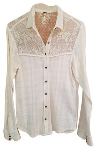 Free People Button Down Shirt off white