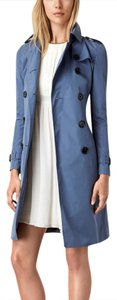 Burberry London Blue Burberry Trench Rain Dusty Coat