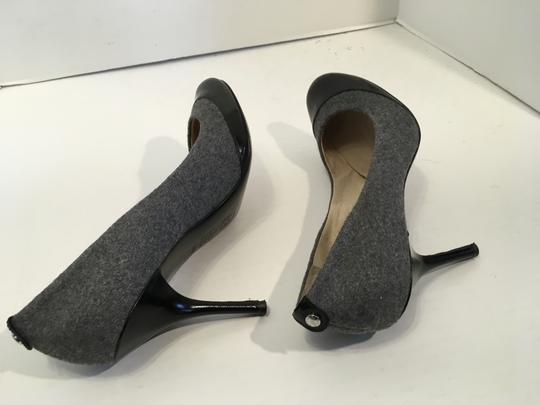 MICHAEL Michael Kors Stiletto Heels Soles Make an offer Gray flannel and black leather leather lining cap toe Pumps