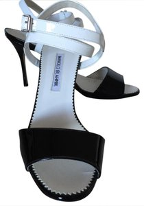Manolo Blahnik black/white Sandals