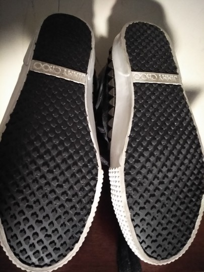 Jimmy Choo Charcoal gray white soles Athletic