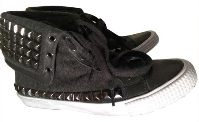 Item - Charcoal Gray White Soles Fabulous Made In Italy Metal Studs Sneakers Size US 10.5 Regular (M, B)