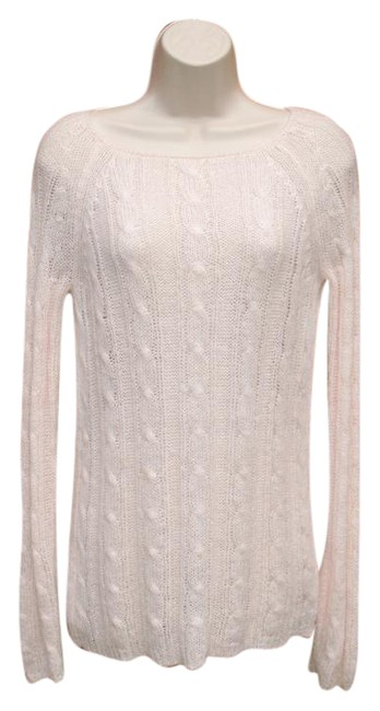 Preload https://img-static.tradesy.com/item/20822475/jcrew-pale-pink-mohair-fuzzy-cable-knit-sweaterpullover-size-6-s-0-1-650-650.jpg