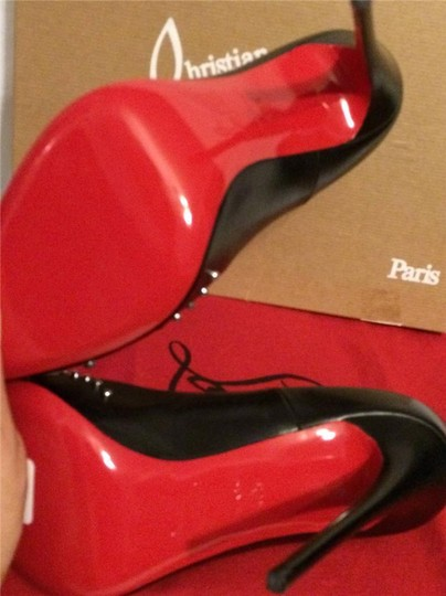 Christian Louboutin Door Knock Studded Black Pumps