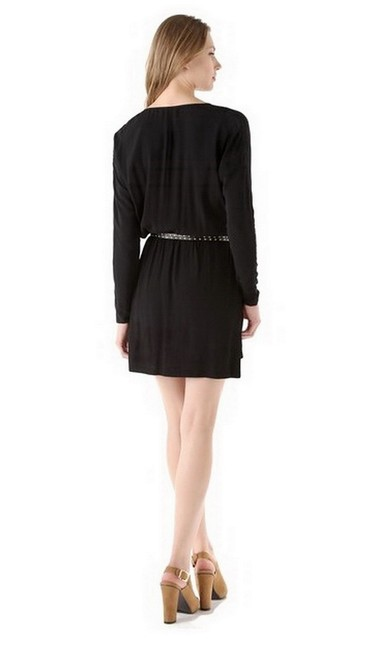 Rebecca Taylor short dress Black Studded Belt Slouched Pockets Rayon Dry Clean on Tradesy