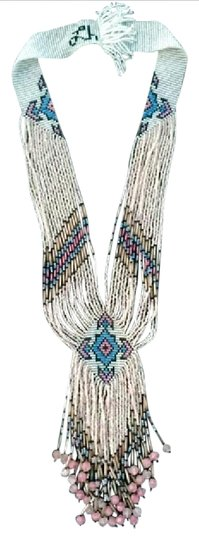 Preload https://img-static.tradesy.com/item/20822551/aqua-pink-white-wearable-art-necklace-0-1-540-540.jpg