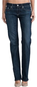 AG Adriano Goldschmied Tomboy Dark Boyfriend Cut Jeans-Distressed