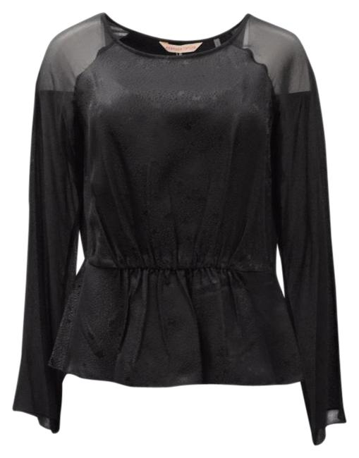 Preload https://item3.tradesy.com/images/rebecca-taylor-black-cinched-waist-blouse-size-6-s-20822587-0-1.jpg?width=400&height=650