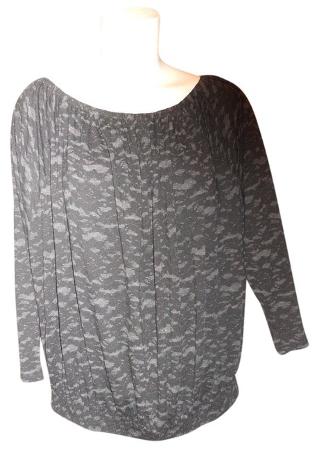 Preload https://item3.tradesy.com/images/michael-kors-black-and-grey-knit-tunic-size-12-l-2082262-0-0.jpg?width=400&height=650