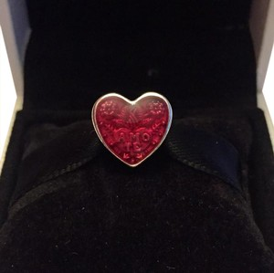 PANDORA Authentic Pandora Latin Heart Charm W/ Pandora Tag & Boxu