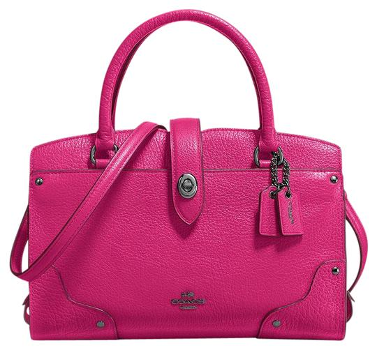 Coach 37779 Mercer Cerise Satchel in Pink