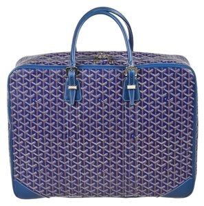 Goyard Blue Chevron Majordome Multi-Color Travel Bag