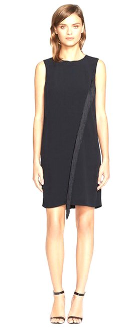 Rebecca Taylor Jewel Neck Concealed Zip Lined Dress