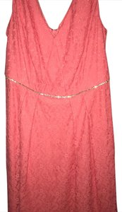 Adrianna Papell short dress coral on Tradesy