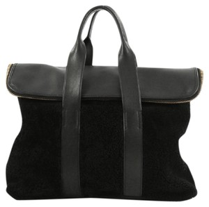3.1 Phillip Lim Shearling Leather Tote in Black
