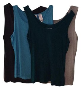 Lord & Taylor Top blue, green, gray and light gray