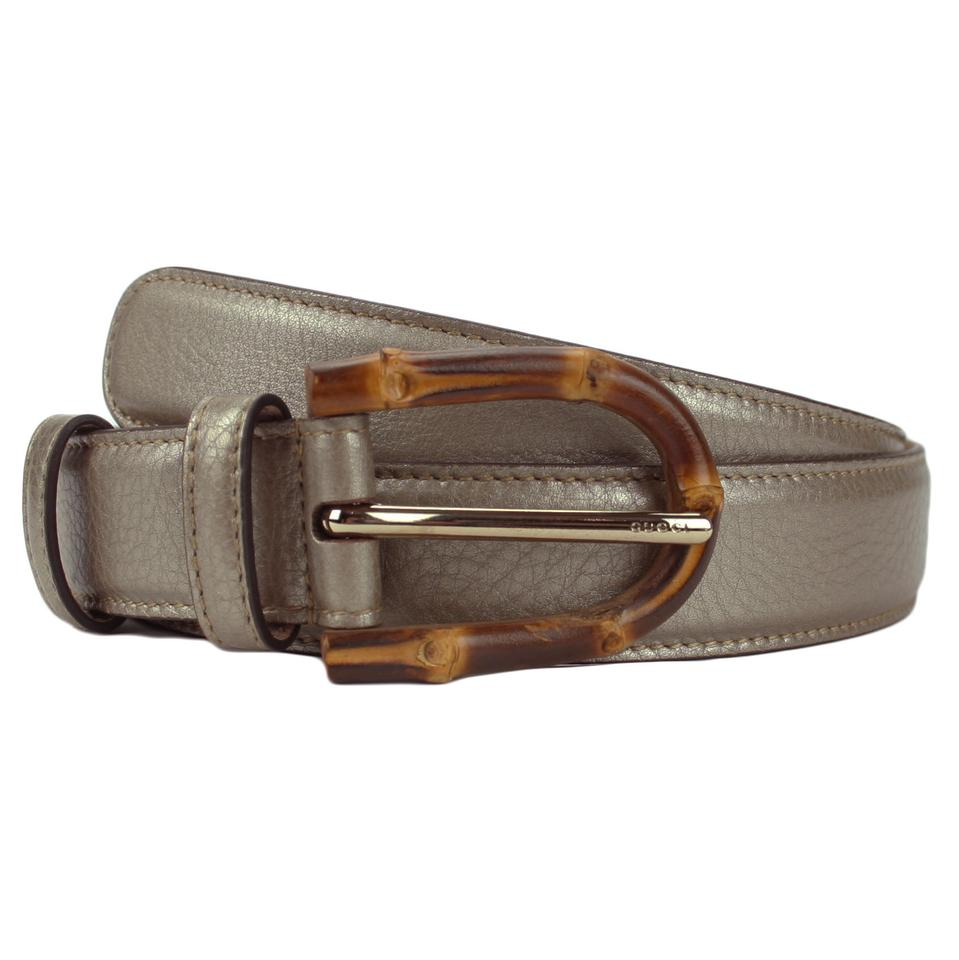 d4439e57c Gucci GUCCI 322954 Women's Leather Belt with Bamboo Buckle 95-38 Image 0 ...