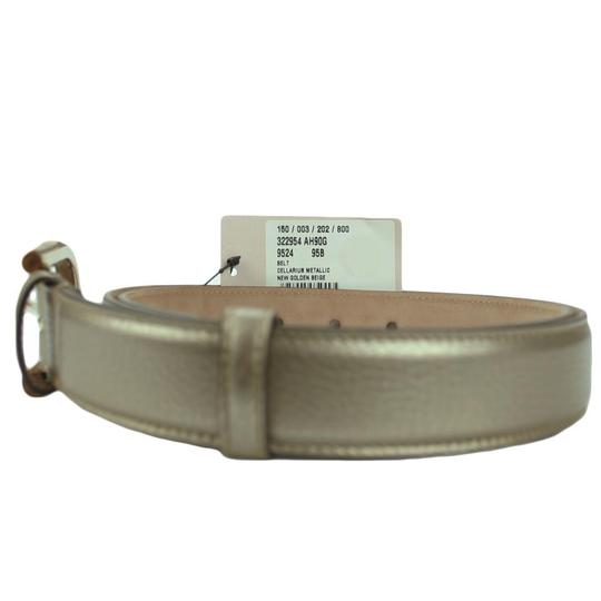 Gucci GUCCI 322954 Women's Leather Belt with Bamboo Buckle 95-38