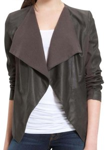 Elie Tahari Leather Lambskin Brown Leather Jacket