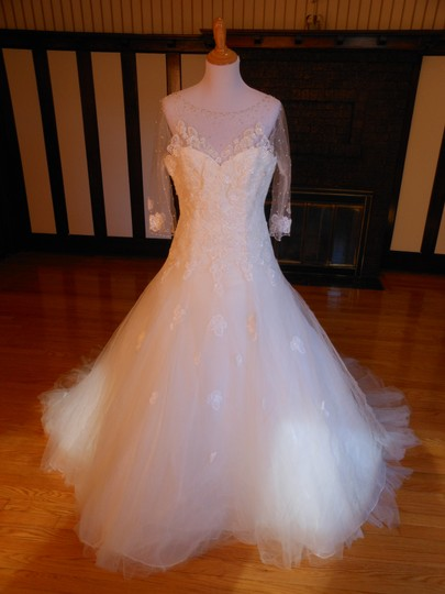 Pronovias Off White Montani Destination Wedding Dress Size 14 (L)