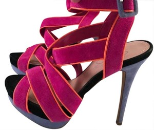 Jessica Simpson Fuschia, lavender, black and orange Sandals
