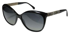 Chanel NEW Chanel 5309B Bijou Black Swarovski Polarized Cat Eye Sunglasses